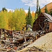 Mining Ruins Art Print