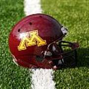 Minnesota Football Helmet Art Print by Bill Krogmeier