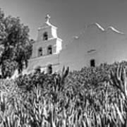 Mission San Diego De Alcala Monochrome Art Print