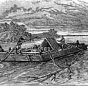 Mississippi: Flatboat Art Print