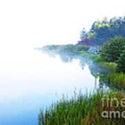 Misty Morning Big Ditch Lake Art Print