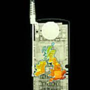Mobile Phone X-ray Art Print