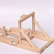 Model Catapult Art Print by Ted Kinsman