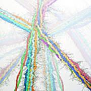 Molecular Collisions Art Print