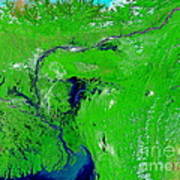 Monsoon Floods Art Print by NASA / Science Source