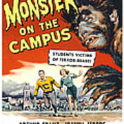 Monster On The Campus, Arthur Franz Art Print by Everett