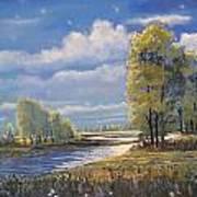 Moonlight On Clear Creek Art Print