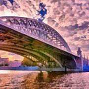 Moscow's Bridges Art Print