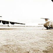 Mothballed C-141s Art Print by Jan W Faul