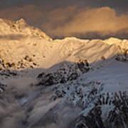 Mount Rolleston At Dawn Arthurs Pass Np Art Print