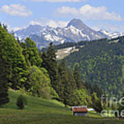 Mountain Landscape In The Alps Art Print