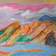 Mountains In The Clouds Art Print