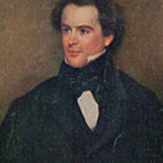 Nathaniel Hawthorne, American Author Art Print by Photo Researchers