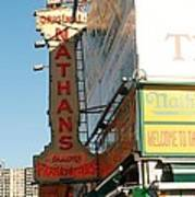 Nathan's Famous At Coney Island  Art Print