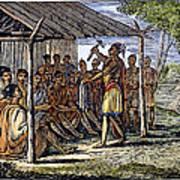 Native American Council, C1835 Art Print