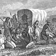Native Americans: Gambling, 1870 Art Print by Granger