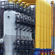 Natural Gas Compressor Station Art Print