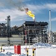 Natural Gas Liquefaction Plant Art Print