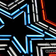 Neon Star Art Print by Darren Fisher
