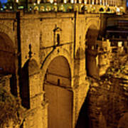 New Bridge In Ronda Art Print