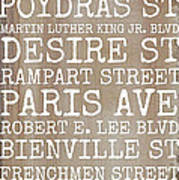 New Orleans Streets Art Print