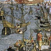 New World: Voyage, 1592 Art Print