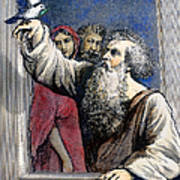 Noah Receives The Dove Art Print