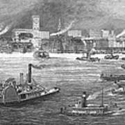 Nyc: The Battery, 1884 Art Print