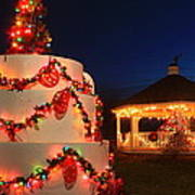 Oakham Massachusetts 250th Anniversary Holiday Lights Art Print