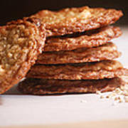 Oatmeal Cookies Art Print by HD Connelly