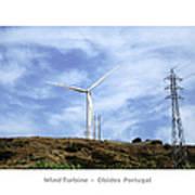 Obidos Wind Turbine II Portugal Art Print