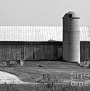 Old Barn And Silo Art Print