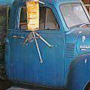 Old Blue Farm Truck Art Print