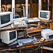 Old Computers In Storage Art Print