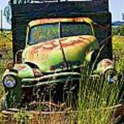 Old Green Truck Art Print by Garry Gay