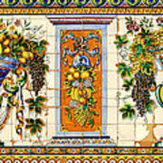 Old Spanish Tiles Art Print