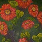 Orange Sunflowers Art Print