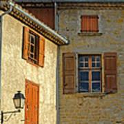 Orange Windows In Provence Art Print