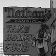 Original Nathan's In Black And White Art Print