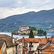 Orta - Overlooking The Island Of San Giulio Art Print