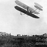 Orville Wright In Wright Flyer, 1908 Art Print