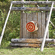 Outdoor Wooden Bulls-eye Art Print by Jaak Nilson