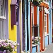 Painted Buildings On Main Street In Art Print