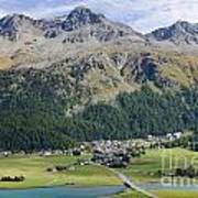 Panoramic View Over Mountain Art Print