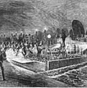 Paris: Sewers, 1869 Art Print