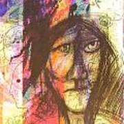 Pastel Man 12 Art Print