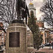 Paul Revere-statue Art Print