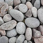Pebbles On Beach Art Print