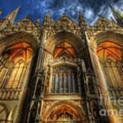 Peterborough Cathedral Art Print