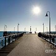 Pier In Backlight Art Print